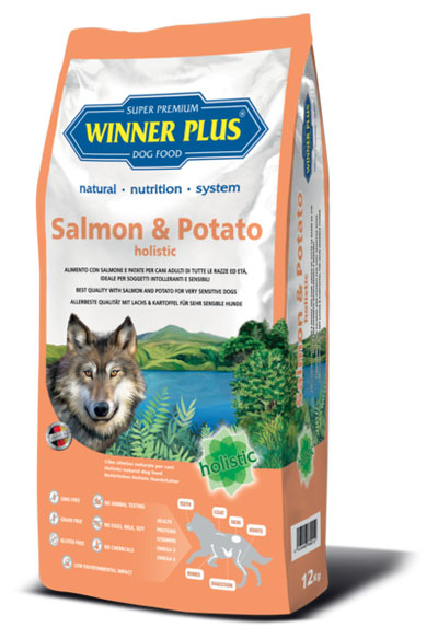 Winner Plus Salmon & Potato holistic 12kg + 3x100g PERRITO pamlsek ZDARMA