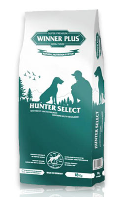Winner Plus Hunter Select 18kg + 3x100g Perrito pamlsek ZDARMA