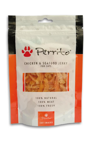 Perrito Chicken&Seafood Jerky for Cats 100g AKCE 3+1 ZDARMA