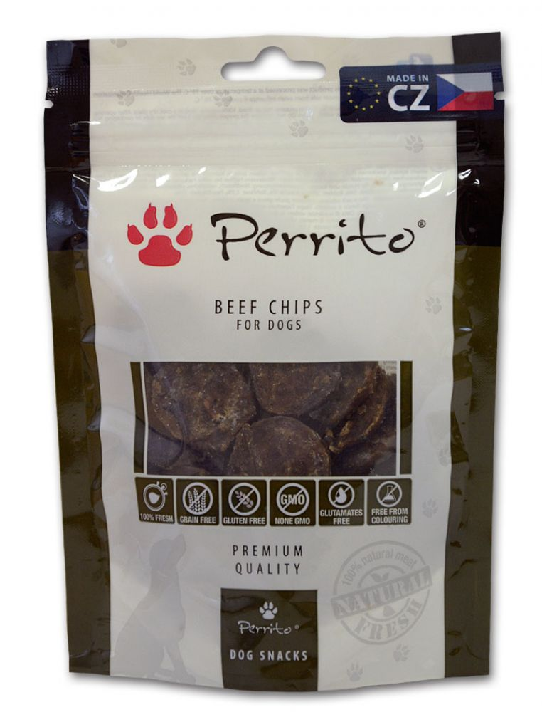 Perrito Beef Chips 100g AKCE 3+1 ZDARMA